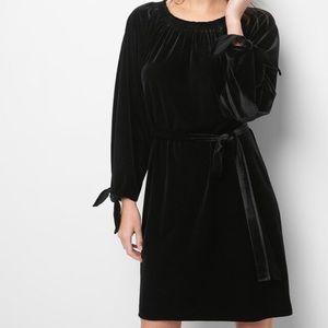 NWT Gap Tie Sleeve Scoop-neck Velvet Dress S